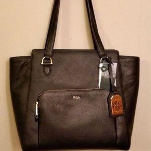 cdfec6e79a9f Ralph Lauren Bags - New RALPH LAUREN LEATHER HARRINGTON BLACK TOTE Bag